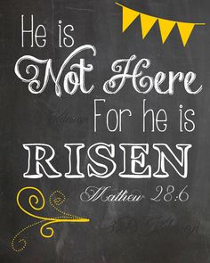 Easter Printable He is risen by 3dkdesign on Etsy, $3.00