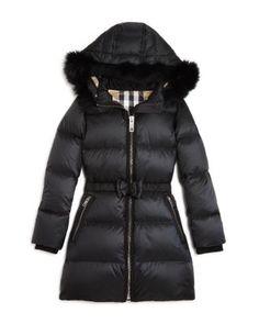 Burberry Girls' Consilla Puffer Coat - Little Kid, Big Kid - Black Girls Fashion Clothes, Girl Fashion, Fashion Outfits, Burberry Kids, Bow Belt, Kids Coats, Kids Online, Girls Shopping, Big Kids