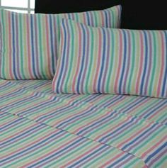 Candy stripe bedding