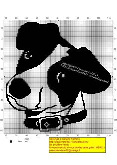 Jack Russell terrier free cross stitch pattern