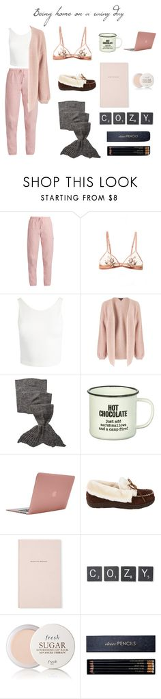 """Being home on a rainy day"" by gracebubble ❤ liked on Polyvore featuring Vetements, Sans Souci, Miss Selfridge, Hodges, Parlane, Incase, Tempur-Pedic, Kate Spade, Core Home and Fresh"