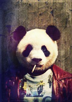 Panda Durden Canvas Print