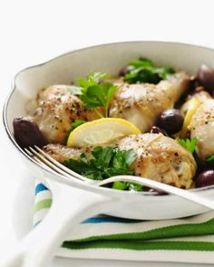 Lemon and olive baked chicken from Sweet Paul