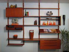 Bruksbo shelves (midcentury Norwegian modular shelving)