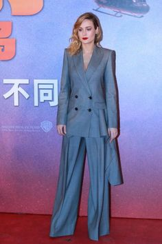 American actress Brie Larson attends the press conference of film 'Kong Skull Island ' on March 16 2017 in Beijing China