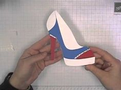 A video tutorial outlining how to assemble and modify the High Heel Shoe card template which is available on my blog on the 'Tutorials' page. www.stampingt.com.au