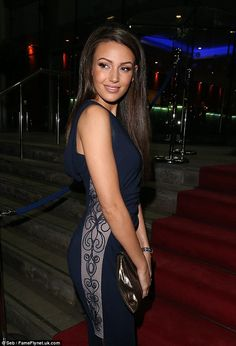 Keegan stuns in thigh high split navy gown at The Mirror Ball She's in fashion! The former Coronation Street star's gown featured ruched detailing and a. The former Coronation Street star's gown featured ruched detailing and a. Navy Gown, Sport Hair, Michelle Keegan, Celebs, Celebrities, Thighs, Sexy Women, Actresses, Mirror Ball