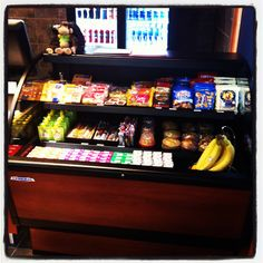 Food items available in our cafe include fruit, pretzels, applesauce, muffins, lunchables, cheese sticks, gogurt, and hummus.  coloradosprings.monkeybizness.com