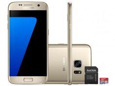"""Smartphone Samsung Galaxy S7 32GB Dourado 4G - Câm. 12MP + Frontal 5MP Tela 5.1"""" + Cartão 16GB"""