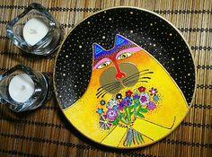 Купить или заказать Подарочная тарелка Лунный Кот 18см ручная роспись в интернет-магазине на Ярмарке Мастеров. Подарочная тарелочка- яркая, сочная, необычная, очень праздничная. Декоративная тарелка 'Лунный кот' создана с любовью по рисункам Лорел Берч. Особенность этой тарелочки в том, что ее легко дополнить другими работами по рисункам замечательной художницы, таким образом, можно собрать целую коллекцию. Так же доступны другие размеры на выбор - 20 и 27 см в диаметре.