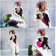 Rainbow Unicorn Hooded Blanket! Sizes: Toddler, crochet unicorn blanket, Child, and Teen-Adult, hood blanket, unicorn blanket, owl blanket #owl hooded blanket, owl hood blanket, unicorn party, crochet patterns, crochet blanket pattern, crochet unicorn, crochet hooded blanket, crochet hood blanket, mj