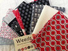 Weeds Fat Quarter Bundle by RedBucketList on Etsy, $22.00