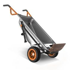 Worx aerocart. never-flat tires, legs for support & ability to carry 300 pounds as a dolly. projected retail $160.