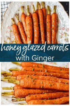Honey Glazed Carrots Recipe with Ginger (VIDEO)