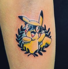 This badass Pikachu. | 21 Pokémon Tattoos That Are Cooler Than You'll Ever Be
