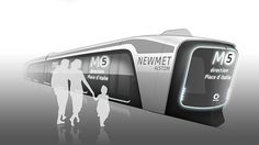 Metro concept by Zamolo Charles | Adding the silhouette people adds a much needed sense of scale in this concept, caisdesign.com
