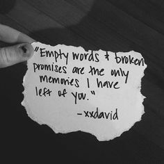 Love Quotes For Her : QUOTATION - Image : Quotes Of the day - Description Love quote : Love : Empty Words And Broken Promises love love quotes quotes Heart Quotes, New Quotes, Happy Quotes, Funny Quotes, Life Quotes, Love Quotes For Her, Quotes For Him, Quotes To Live By, The Words