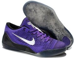 Kobe IX Elite Low White Purple Black