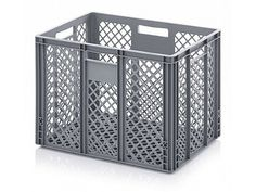 88 Litre Ventilated Perforated Euro Plastic Stacking Container - Stackable Storage Box