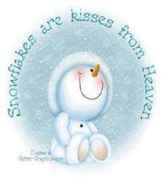 Snowflakes are kisses from Heaven winter snow snowman graphic winter quote happy winter winter greeting Frosty The Snowmen, Cute Snowman, Snowman Crafts, Christmas Snowman, Winter Christmas, Vintage Christmas, Christmas Holidays, Christmas Ornaments, Winter Snow