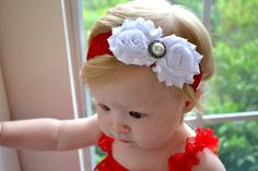 Christmas Lace headband, baby headband, infant headbands, newborn headband, toddler headband, baby hair bow, newborn photo prop, accessories on Etsy, $11.99