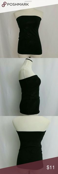 Express Sexy Basic Tube Top Size Small Black Express Sexy Basic Tube Top Size Small Black with Design.  Very Gently Used Great Condition   Armpit to Armpit Unstretched 14 Inches Length 18 Inches Express Tops Camisoles
