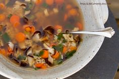 Brown Rice Veggie Soup   Life Currents  Revitalizing and immune-boosting, this tasty soup is nutritious and great...