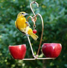 Love Birds Apple Feeder