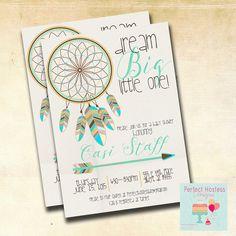 Boy Boho Dream Catcher Baby Shower Invitation by PerfectHostess