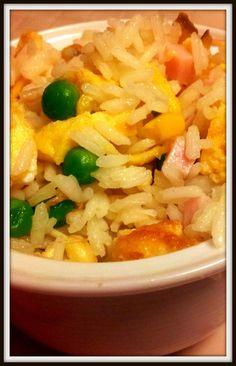 Arroz tres delicias en wok