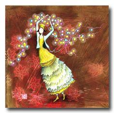 BOISSONNARD La guirlande de Noël Kunstjournal Inspiration, Art Journal Inspiration, Illustration Artists, Cute Illustration, Marie Cardouat, Art Fantaisiste, Art Mignon, Art Carte, Decoupage