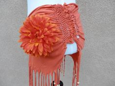 Upcycled Orange Beach & Dance Wrap by timeamarie on Etsy, $38.00 from Zialife Artwear
