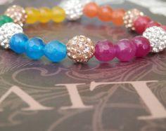Chakra Bracelet Chakra Mala Wrist Mala Beads Mala by MartyTribble
