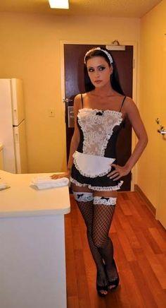 Peplum Dress, Dress Up, Maid Cosplay, Maid Uniform, Maid Outfit, French Maid, Sissy Maid, Sexy Stockings, Crossdressers