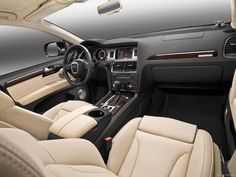 Brown Leather Seat 2014 Audi Sonata with High Technology Multimedia Audi Suv, My Dream Car, Dream Cars, Audi Q7 Interior, Cool Pictures, Cool Photos, Suv Cars, Luxury Cars, Volkswagen