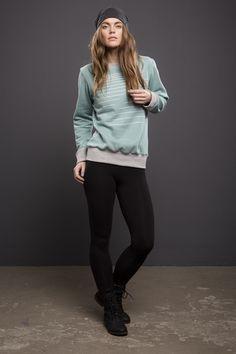 """Pullover """"Detroit"""" in mint green mit Print von stoffbruch - Designer Streetwear Berlin auf DaWanda.com"""
