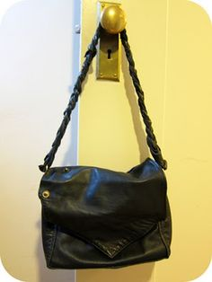 upcycled leather jacket tote bag