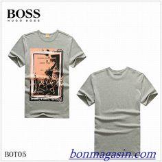 Vendre Pas Cher Homme Hugo Boss Tee Shirts H0116 En ligne En France.