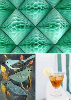 Party Palette: Emerald   Bourbon