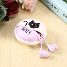 >> Click to Buy << 2017 3.5mm Cute Cartoon Cat Earphone Sensitivity Impedance Wired In ear Earbubs Headset Earphone With Mic Gift Drop shipping #Affiliate
