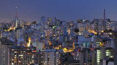 São Paulo (Brazil) at night.