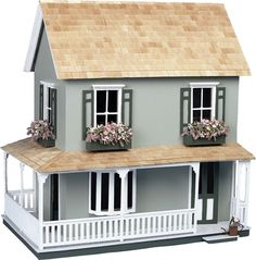 Engage your child in hours of imaginative play with this Victorian dollhouse kit. The scaled cottage kit is quality constructed from unfinished wood and features an open back and convenient movable partitions, perfect for little hands. Victorian Dollhouse, Wooden Dollhouse Kits, Diy Dollhouse, Dollhouse Miniatures, Toddler Dollhouse, Miniture Dollhouse, Dollhouse Bookcase, Haunted Dollhouse, Miniature Houses