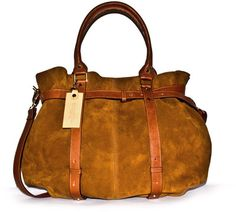 TSM The Swedish Model Missy Balloon Suede Leather Tote Bag