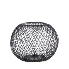 Betty Jackson.Black Designer black wire ball candle holder- | Debenhams