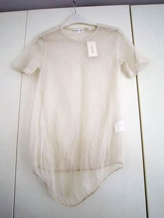 Helmut lang! Transparent t-shirt