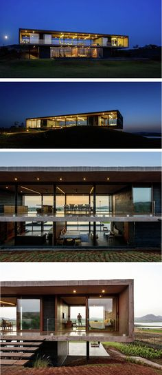 20 Remarkable Modern House Design in India Modern Architecture House, Architecture Plan, Amazing Architecture, Luxury Modern Homes, Luxury Homes Dream Houses, Minimalist House Design, Modern House Design, Modern House Floor Plans, Rustic Home Design
