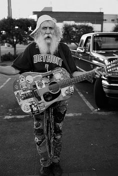 "Michael Karpack - One of Spokane's ""Famous"" Street Musicians. It's been quite a while since I've seen that face."