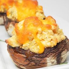 Buffalo Chicken Stuffed Mushrooms (Low-Carb)   Mushrooms stuffed with buffalo chicken dip are the perfect party appetizer for game day or dinner parties.