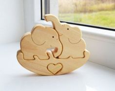 Mother's day - Kids gift - Wood bear - Wooden Puzzle bear - Educational toys…
