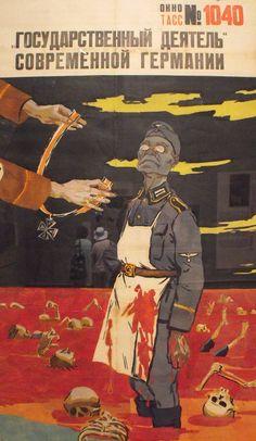 """""""Las medallas de Alemania"""" Nikolai Denisovskii, 1944"""